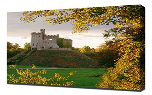 Cardiff Castle Wales - Canvas Art Print - Wall Art - Canvas ()