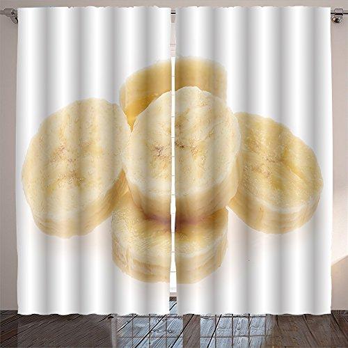 SOCOMIMI Lush Decor banana slices isolated on a white background (Furniture Weave Banana)