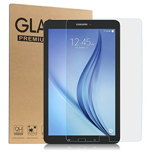 Samsung Galaxy Tab E 9.6 Screen Protector, Eontry [High Definition] [Scratch Resistant] [Bubble Free] Tempered Glass Screen Protector for Galaxy Tab E 9.6 inch SM-T560 T560NU T561 T567 [2 Pack]