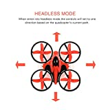 RCtown NH010 Mini Drone 2.4GHz 4CH Mini UFO Quadcopter Drone with 6-Axis Gyro Headless Mode Remote Control Nano Quadcopter (Red)