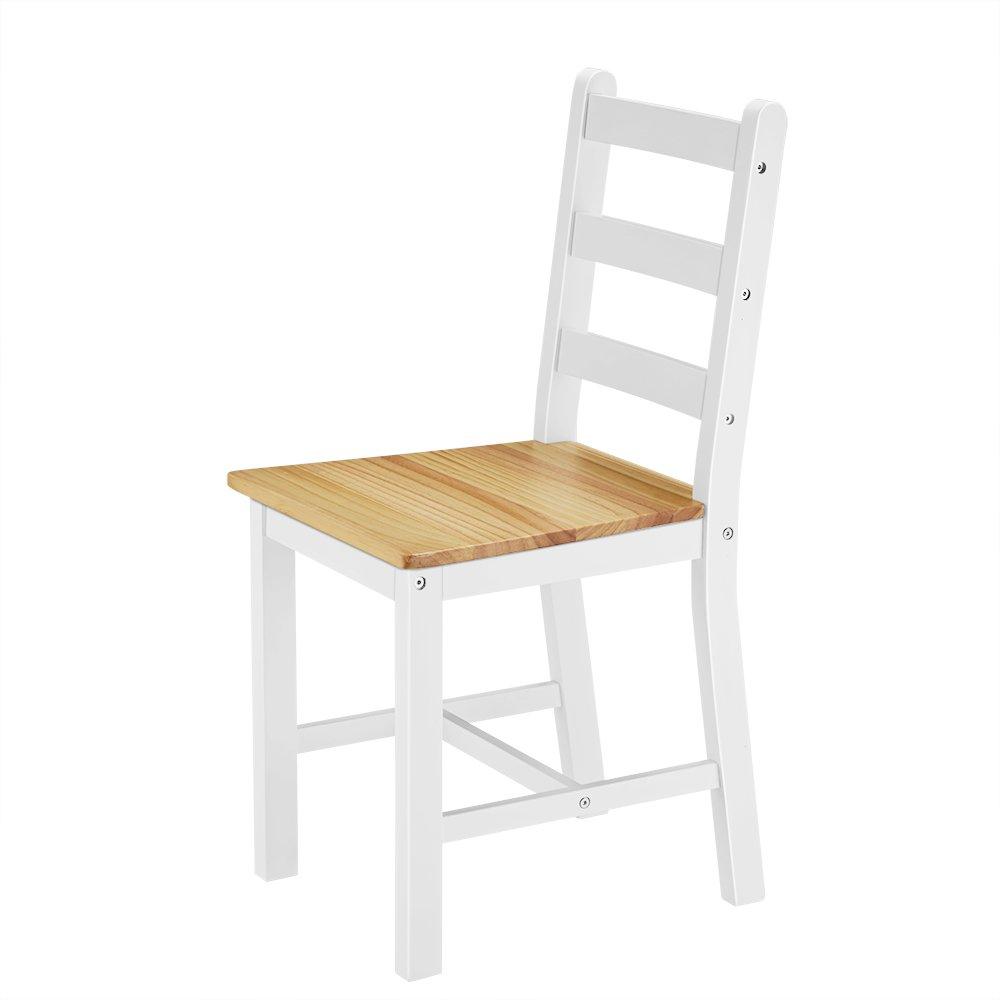 set da pranzo Natural Pine furniture-uk-shop Tavolo da pranzo in legno massello 2/sedie stile contemporaneo