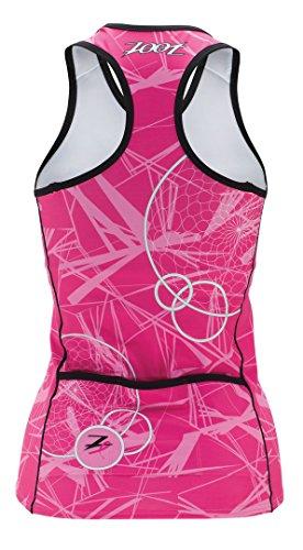 Zoot Sports Womens W Ultra Tri BCRF Racerback Pink SM ()
