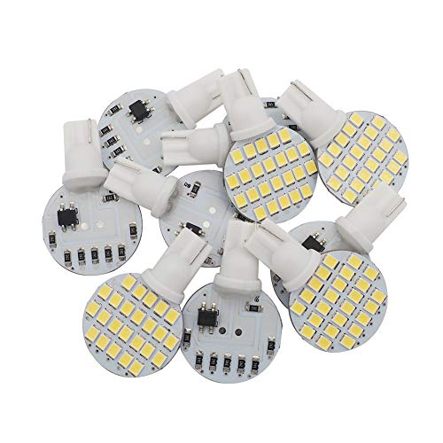 GRV T10 921 194 24-2835 SMD LED Bulb lamp Super Bright DC 12V Cool White Pack of 10 ()