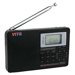 ARBUYSHOP caliente! Estéreo DSP de radio FM / MW / SW / LW banda completa Radio Receptor Mundial Receptor de radio Reloj y alarma Radio multibanda 10KHz F9201B