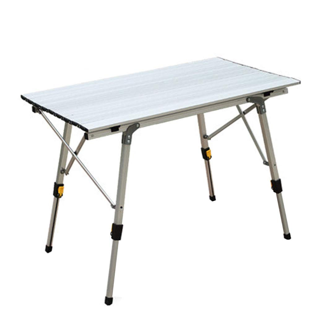 Hstore Outdoor Aluminum Folding Table, Ultralight Portable Picnic Camping Table, Self-Driving Ultra-Light Multipurpose Rectangle Table Height Adjustable Craft, Camping and Utility Folding (US Stock)