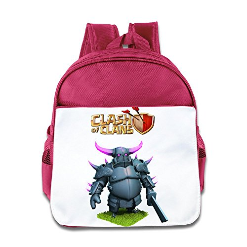 XJBD Custom Cool Game Logo Kids School Bag For 1-6 Years Old Pink