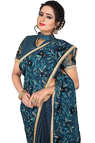 Women Sarees Green For Traditional Party Designer Wear Indian Sari dqEwxd
