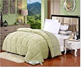 Best KingLinen King Size Beds - Flannel Goose Down Alternative Comforter , Reversible, Siliconized Review