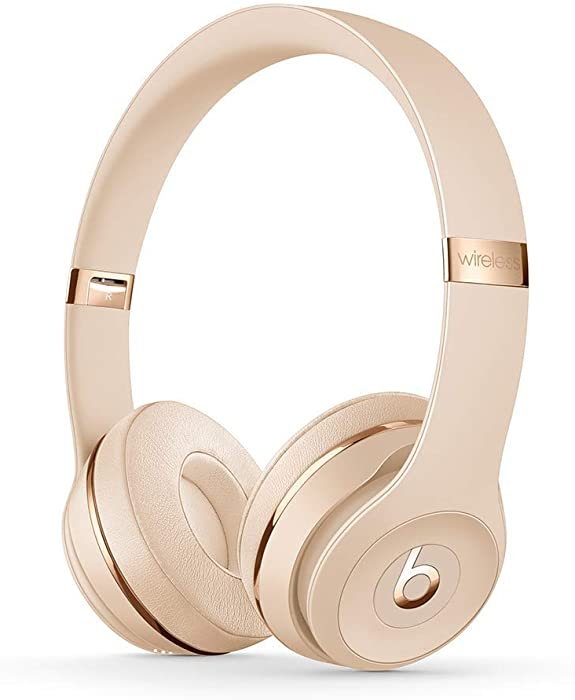 Beats Solo3 Wireless On-Ear Headphones - Apple W1 Headphone Chip, Class 1 Bluetooth, 40 Hours Of Listening Time - Satin Gold (Latest Model) (Renewed)