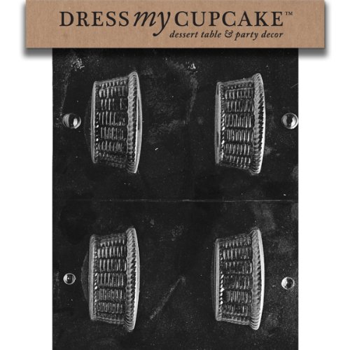 Dress My Cupcake Chocolate Candy Mold, Small Basket Nut Cup, Easter (Basket Mold)
