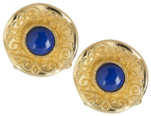 Lapis Cufflinks - Father's Day Cufflinks Sale - Byzantine Cufflinks with Fancy Backs, Lapis, From Our Museum Store