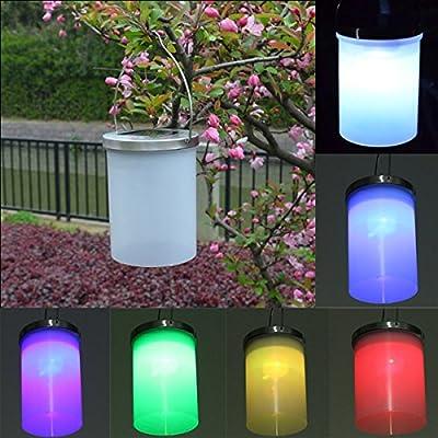RoseBlue byRisa Garden Solar Power Gaden Hanging Lantern Light Outdoor Lawn Cylinder LED Lamp