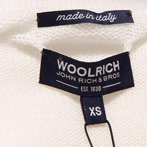 7159w Woman Bianco Cotton Sweater Maglione Donna Woolrich White vOYa0qnd