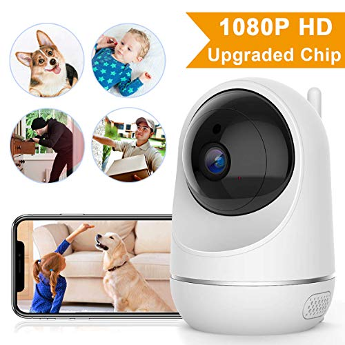 1080P, Security Camera Pet/Dog/Elder/Baby Camera Monitor, with Night Vision/Motion Detection/Two-Way Audio, Works with Android/iOS[New 2019] ()