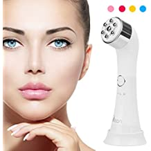 SENXILLER Facial Massagers Face Massager Device High Frequency and Vibration Machine Red Light Therapy Strengthening Elasticity Modifying Wrinkles Sensitive Skin Care Product White