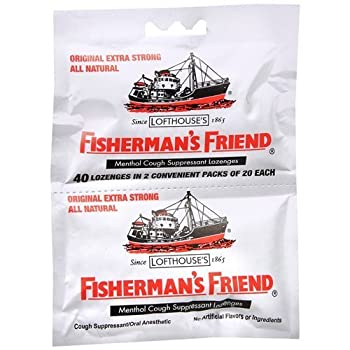 Fisherman s Friend Lozenges - Original Extra Strong - Dsp - 40 ct - 1 Case-contain no artificial colorings or flavorings-Produced exactly according to the original recipe by Fisherman s Friend