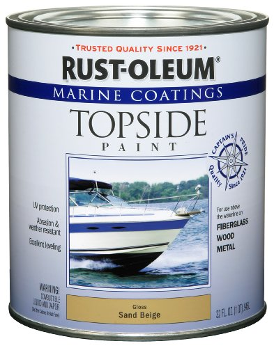 Rust-Oleum 207003 Marine Coatings Topside Paint, Quart, Sand Beige