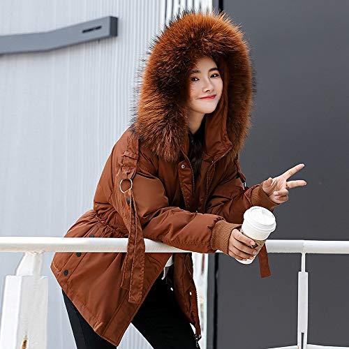 Vestes Fourrure La Bas Taille Ulanda Automne Élégant Manteau eu Courte Capuche Hiver Veste Veste D'hiver Court Veste Coton Femmes Le Marron Plus Vers AxpqnaFx