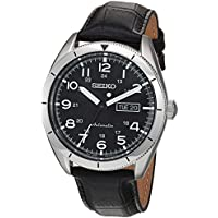 Seiko Men's Core Leather Automatic Watch (Black)