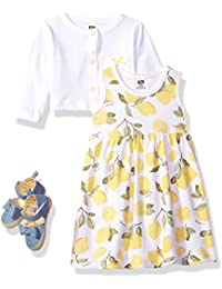 Girls' 3 Piece Dress, Cardigan, Shoe Set