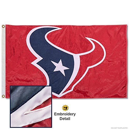 Houston Texans Embroidered Nylon Flag (Houston Texans Flag)