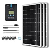 Renogy 300 Watt 12 Volt Monocrystalline Solar Starter Kit with 40A Rover MPPT Charge Controller