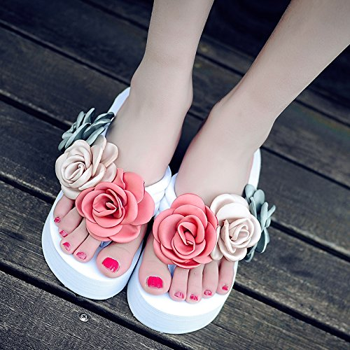 chanclas zapatos moda inferior e tacones Playa de laderas y Resort verano sandalias damas Seaside grueso FLYRCX de YvIqpn