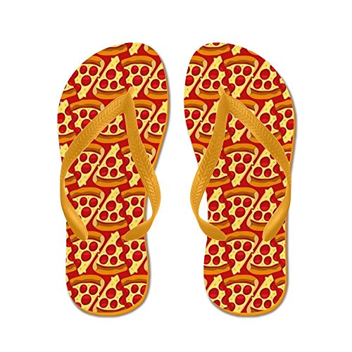 Cafepress Pizza Emoji Patroon - Flip Flops, Grappige String Sandalen, Strand Sandalen Oranje