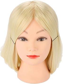 Tete De Coiffure Femme Realiste Mannequin Tete Coiffure Pratique Mannequin Poupees Cosmetologie Modele De Cheveux Amazon Fr Beaute Et Parfum
