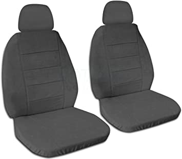 Totally Covers Solid Color Car Seat Covers w 2 Separate Headrest Covers: Black Will Make Fit Any Car//Truck//Van//RV//SUV 22 Colors Front Semi-Custom Fit