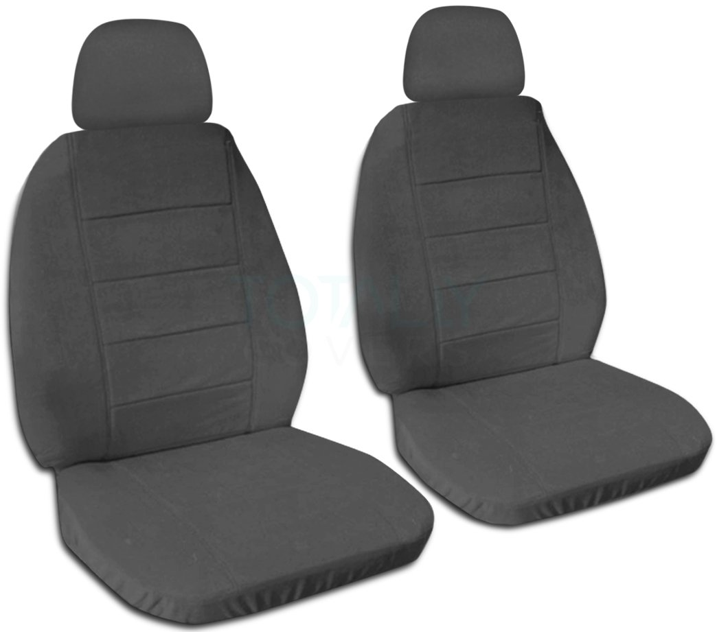 Will Make Fit Any Car//Truck//Van//SUV Semi-Custom Fit Front 22 Colors Solid Color Car Seat Covers w 2 Separate Headrest Covers: White