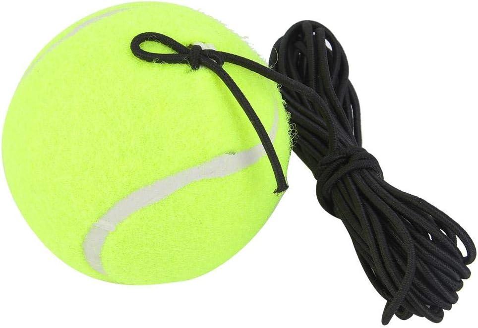 Pelota de tenis con cuerda, pelota de entrenamiento para principiantes de tenis, juego de entrenador de pelota de tenis con cuerda de goma elástica de 4M para niños práctica para principiantes juvenil