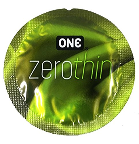 ONE Zero Thin Premium Lubricated Latex Condoms with Pocket/Travel Case-24 Count (Silver Travel Case)