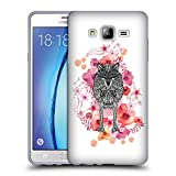 Official Monika Strigel Wolf Animals And Flowers Soft Gel Case for Samsung Galaxy On7
