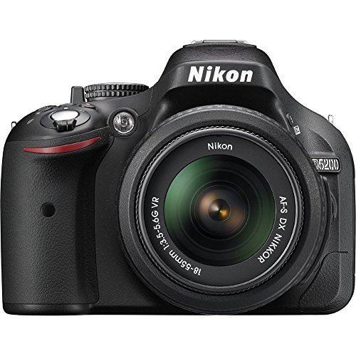 Nikon D5200 24.1 MP DSLR Camera with 18-55mm VR Lens Kit (Certified Refurbished)