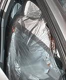 Moyishi 100PCS Car Disposable Plastic Seat Covers