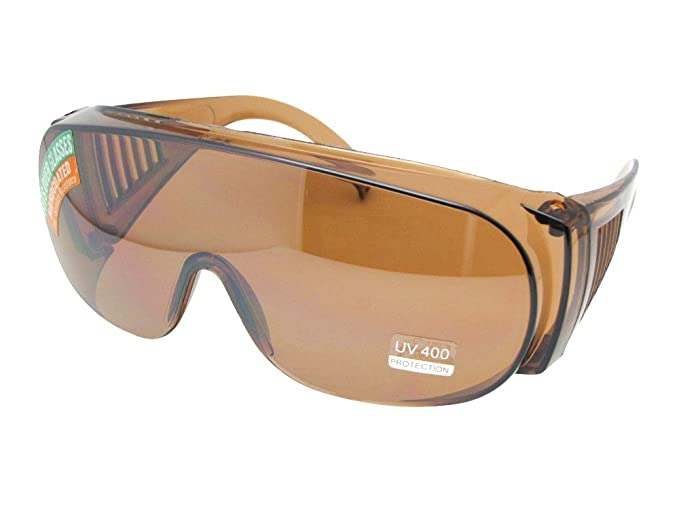 f901f92cb5 Style F22 Full Size Sunglass Shield With Sunglass Rage Pouch (Amber Lens