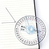 Amrka Plastic 360 Degree Protractor Ruler Angle