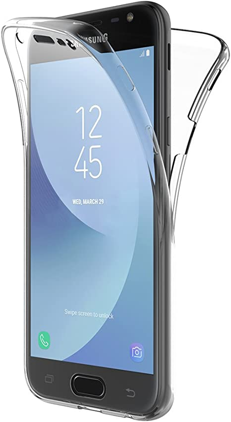 AICEK Funda Samsung Galaxy J3 2017, Transparente Silicona 360 Grados Full Body Fundas para Samsung J3 2017 Carcasa Silicona Funda Case (5,0 Pulgadas SM-J330F): Amazon.es: Electrónica