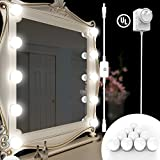 BlueFire Upgraded Hollywood Style LED Vanity Mirror Lights Kit, Makeup light with 10 Dimmable Bulbs and Touch Dimmer for Makeup Vanity Table Set in Dressing Room (Mirror Not Include)