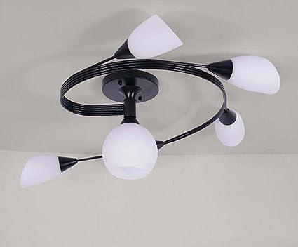 Plafoniera Fiori Vetro : Plafoniera da soffitto in cristallo ferro art lampadario