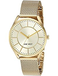 Women's NW/1922CHGB Gold-Tone Mesh Bracelet Watch