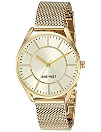 Nine West Women's Quartz Metal and Stainless Steel Dress Watch, Color:Gold-Toned (Model: NW/1922CHGB)