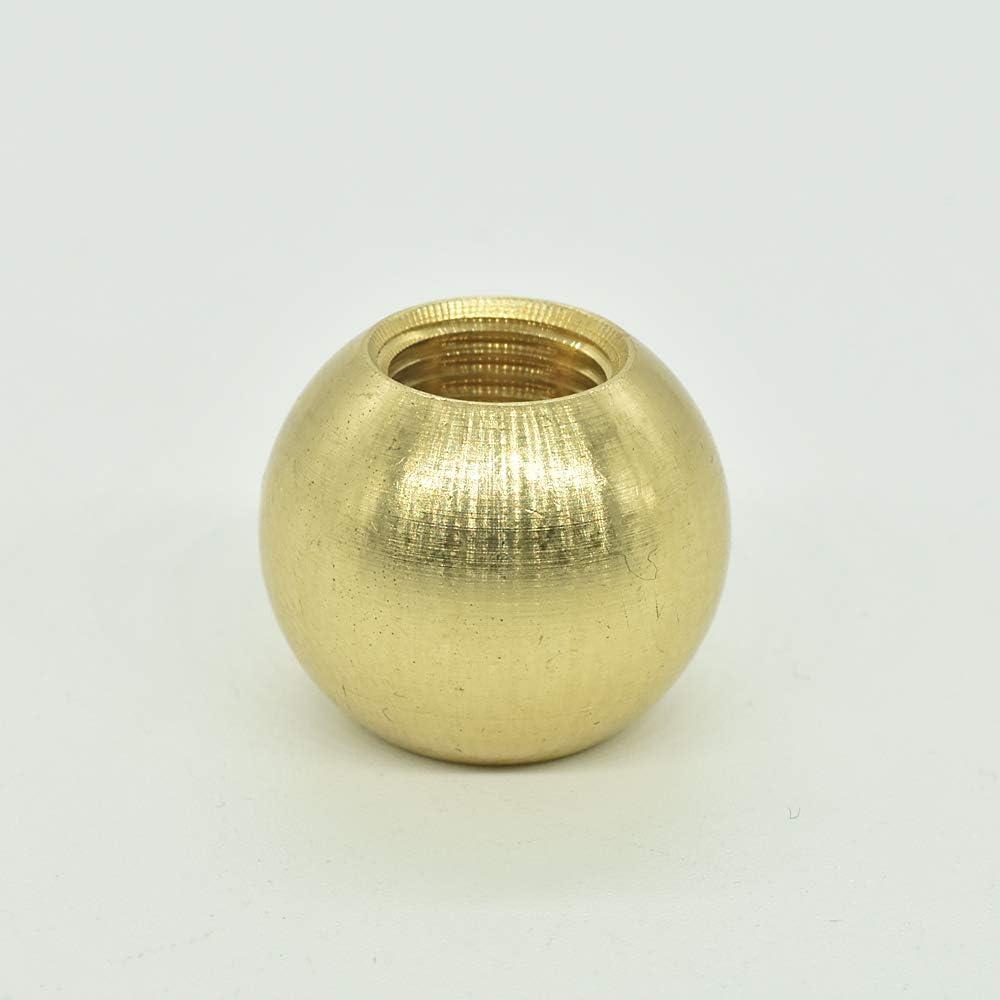 Boule en laiton /Ø 20 mm M10 x 1 Filetage de passage Lot de 2 boules filet/ées Roh