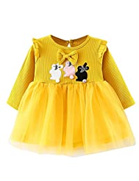AmyDong Toddler Kids Baby Girls Clothes Long Sleeve Party Princess Dresses