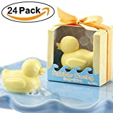 AiXiAng Cute Mini Duck 24 Pieces Soap Favors Nice Gift Packaging for Baby Shower Soap Favors