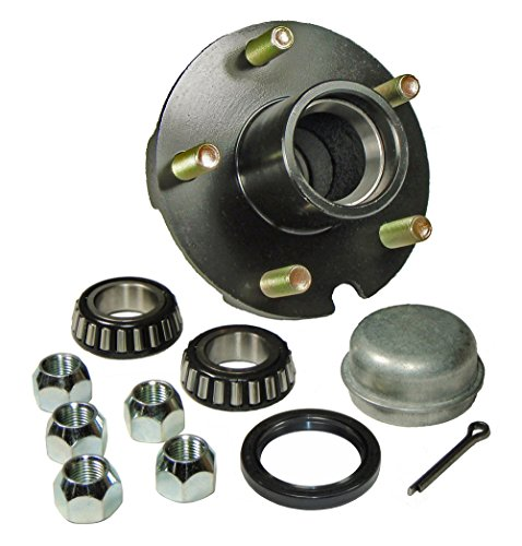 Trailer Hub Kit - 5 Bolt on 4-1/2 Inch Circle - 1-1/16 inch I.D. Bearings
