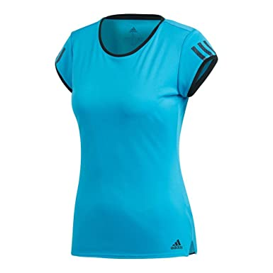 6ef3b856bb adidas Women's Club 3-Stripes Tee Shock Cyan X-Small. Roll over image to  zoom in