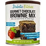 Diabetiker Kitchen Gourmet Chocolate Brownie Mix Makes The Moistest, Fudgiest Brownies Ever Gluten-Free, High-Fiber, Low-Carb, No Artificial Sweeteners or Sugar Alcohols (12.5 OZ)