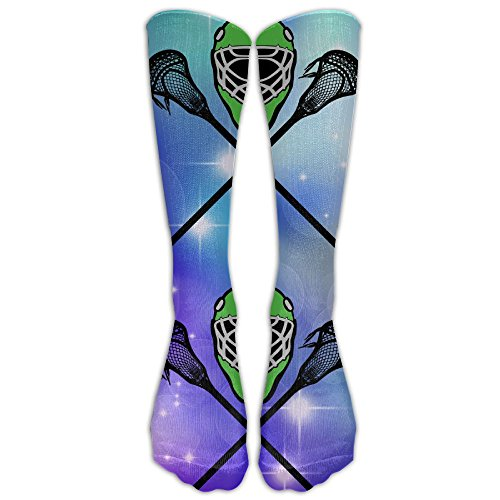 Lacrosse Helmet Crossed Sticks Grphic Compression Socks Running Socks For Men & Women